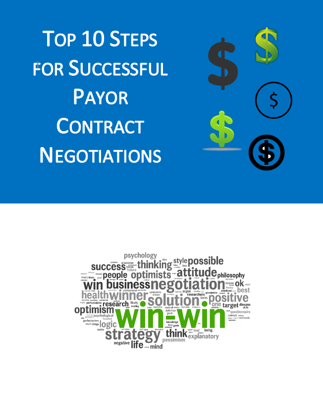 Top 10 Landing Page Graphic | Top 10 Steps for Successful Payor Contract Negotiations | STATMedCare Payor and Physician Enrollment and Credentialing