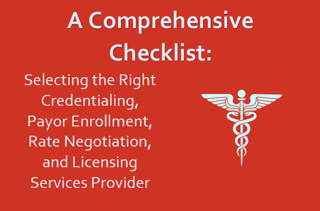 Comprehensive Checklist Home Page Graphic 3 | STAT Home page | STATMedCare Payor and Physician Enrollment and Credentialing