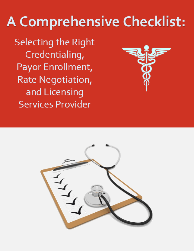 Comprehensive Checklist Landing Page Graphic | A Comprehensive Checklist | STATMedCare Payor and Physician Enrollment and Credentialing