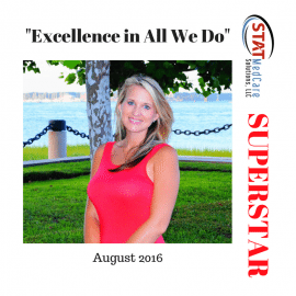 "Embodying ""Excellence in All We Do"" – Performer of the Month, August 2016, Jennifer Mikel"