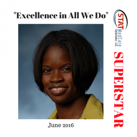 "Embodying ""Excellence in All We Do"" – Performer of the Month, June 2016, Kamisa Lindsey"