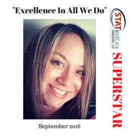"""Embodying """"Excellence in All We Do"""" – Performer of the Month, September 2016, Kristin Deeken"""