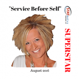 "Personifying ""Service Before Self"" – Performer of the Month, August 2016, Sandi Lomnicky"