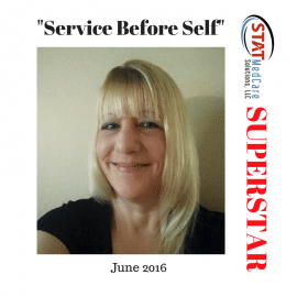 "Personifying ""Service Before Self"" – Performer of the Month, June 2016, Trisha Piloto"