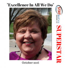 "Embodying ""Excellence In All We Do"" – Performer of the Month, October 2016, Louanne Obrzut"
