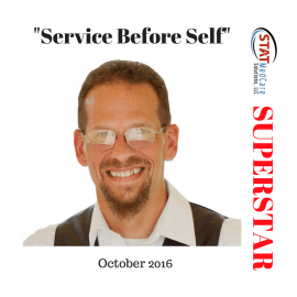 "Personifying ""Service Before Self"" – Performer of the Month, October 2016, Troy Conley"