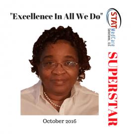 "Embodying ""Excellence In All We Do"" – Performer of the Month, October 2016, Cheryl Reddick"