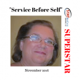 "Personifying ""Service Before Self"" – Performer of the Month, November 2016, Anita Allen"