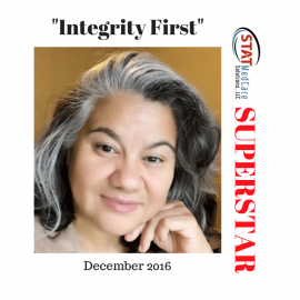 "Exemplifying ""Integrity First"" – Performer of the Month, December 2016, Bekah Jacobson"