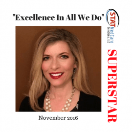 "Embodying ""Excellence In All We Do"" – Performer of the Month, November 2016, Sherri Marrapode"