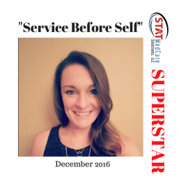 "Personifying ""Service Before Self"" – Performer of the Month, December 2016, Vanessa Miles"