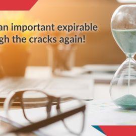 Don't let an important expirable slip through the cracks again!